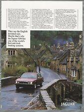 1989 JAGUAR XJ6 advertisement, Jaguar ad, Jag at Castle Combe, England