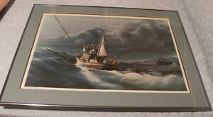 """1980 Frank Loudin numbered and framed lithograph Print titled """"J-Lou"""""""