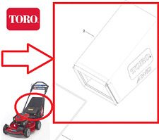 Genuine TORO AWD 20960 Fabric GRASS BAG (Not frame) 131-0893 - L436