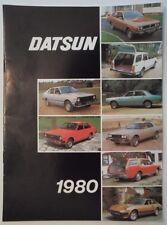 DATSUN RANGE 1980 UK Mkt Sales Brochure - 280ZX 280C Skyline Laurel Bluebird etc
