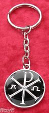 Chi-Rho with Alpha-Omega Keyring Chi Rho Symbol Key Ring Christian