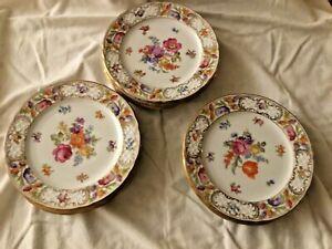 SCHUMANN Arzberg Bavaria - EMPRESS DRESDEN FLOWERS-12 Dessert plates-Mint