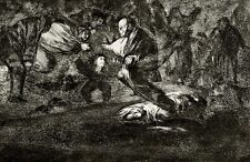 Francisco GOYA, Disparate funebre, acquaforte, 24,5x35cm, Le Follie