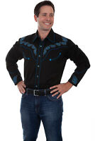 Scully Men's Western Embroidered Shirt P-885