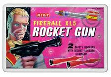 FIREBALL XL5 STEVE ZODIAC MERIT ROCKET GUN BOX ARTWORK NEW JUMBO FRIDGE  MAGNET