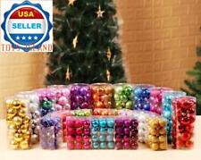 24 ct Shatterproof Christmas Ornament Tree Hanging Balls Holidays Decor ❶USA❶