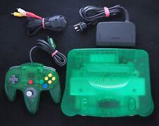 Jungle Green Nintendo 64 Console PAL + Original Controller N64 VGC