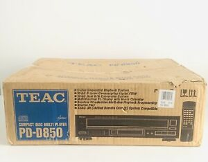 Vintage New In Box TEAC PD-D850 5 Disc CD Changer 1993 Carousel Disk Holder