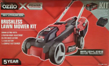 Ozito 18V Power X Change Brushless Cordless Electric 4Ah Battery Lawn Mower Kit