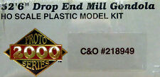 "HO P2K CHESAPEAKE & OHIO 52'6"" Drop End Mill Gondola C&O 218949 Kit NIOB"