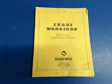 Ikari Warriors by Tradewest Video Arcade Game Service Instructions