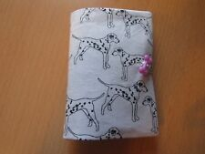 HAND MADE Dalmatian Needle case, 4 felt leaves & pack of needles( pink)