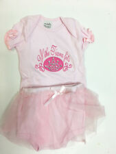 New Mud Pie Newborn Infant Baby Girl If The Tiara Fits Pink Tutu Outfit Sz 0-6M