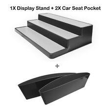 "3Tier Expandable Cabinet Spice Rack Step Shelf Organizer(15"")+2x Car Storage box"