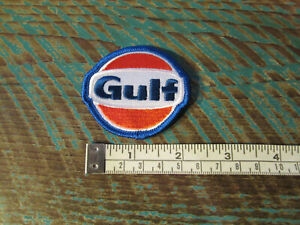 SMALL VINTAGE STYLE GULF PATCH PORSCHE LE MANS ALMS SCCA INDY GAS FUEL RACING