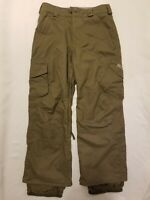 Burton Dryride Vented Adjustable Snowboard Ski Pants, Olive Green, Mens XS