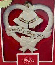 Lenox 2013 Annual Wedding Day 2013 Christmas Ornament