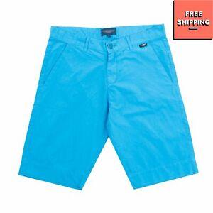 ASTON MARTIN Bermuda Shorts Size 12Y Garment Dye Rubber Logo Zip Fly