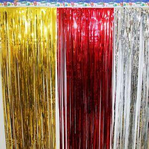 10X Glitter Metallic Foil Tassel Fringe Curtain Decor Birthday Wedding Party New