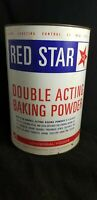 Red Star Baking Powder Empty 10 lb Tin Can Metal Old Vintage 14