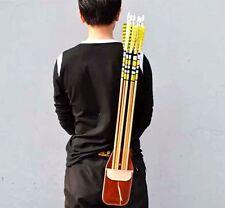 Sport Arrow Quiver Waist Bag Holder Archery Accessorie Bow Belt Leather Handmade