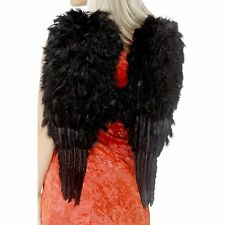 Black Feather Angel Wings Ladies Xmas Festive Fancy Dress Costume Accessory