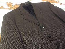 Raspinni Uomo Blue Tan Checkered Blazer Sport Coat Suit Jacket Sz 46R
