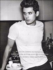John Mayer 2010 b/w 8 x 11 pin-up photo print