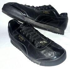 Womens Puma Roma Indoor Soccer Futbol Black Sneakers Sz 8.5 US / 39 EU Shoes
