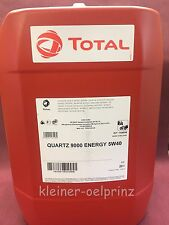 20 ltr. TOTAL Quartz 9000 Energy 5W-40 Motoröl / Motorenöl MB 229.5 / BMW LL-01