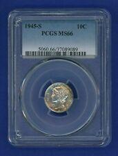 1945 S PCGS MS66 Mercury Dime 10c US Silver 1945-S PCGS MS-66 Super PQ!