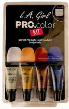 LA Girl Pro Color Kit Matte Liquid Foundation Mixing Pigment Palette Stick NEW