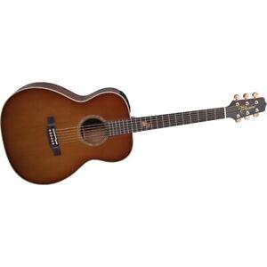 Takamine TF77PT OM Legacy Koa A/E Guitar Light Burst 194744019081 OB