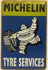 Michelin Tyre Services Retro Vintage Metal Sign Home Garage Workshop Pub Studio