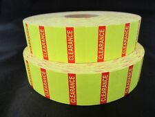 Yellow Clearance Labels for 1136 & 1138 Monarch Labelers 2 Rolls