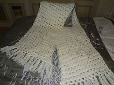 Vintage hand crafted crocheted shawl/wrap/stole in wool
