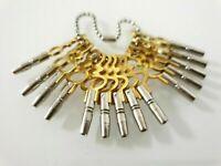 Set mit 14 Schlüsseln für alte Taschenuhren Größe 00,0,1-12, NEU