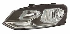 VW Polo 6R 2014-> Black Front Headlight Headlamp N/S Passenger Left