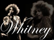 Whitney Houston Iron On Transfer For T-Shirt & Other Light Color Fabrics #1