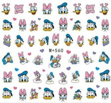 Nail Art Stickers Water Decals Donald & Daisy Duck Cartoon Characters  (M+560)