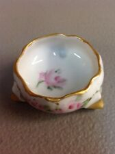 ANTIQUE PORCELAIN CERAMIC HAND PAINTED SALT CELLAR DIP VIENNA AUSTRIA