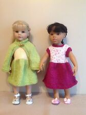 "Dolls Fashion clothes knitting  pattern to fit  18""- 19"" doll. Dress and cape."