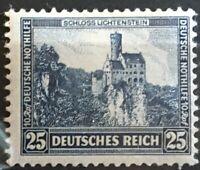 GERMANY 3rd REICH 1932  Castle Lichtenstein  Mi.477 Sc B47 / MNH CV $52