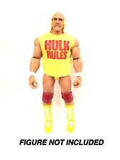 WWE WCW Hulk Hogan 'Hulk Rules' Yellow Custom Shirt For Mattel Figures.