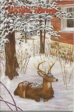 Pennsylvania Game News December 2001 cover by Tom Gallovich buck deer