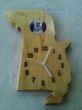 Kansas City Royals Missouri shaped wood quartz wall clock with team logo