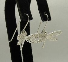 STERLING SILVER EARRINGS DRAGONFLY 925 SOLID NEW