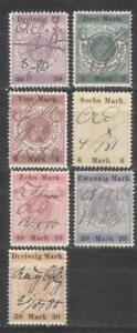 Germany Hessen set of revenues 1879 fiscal Stempelmarken