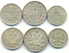 Russland: 20 / 15 / 10 Kopeken 1913/5 in fast Stempelfrisch. Lot 3 Stück !!