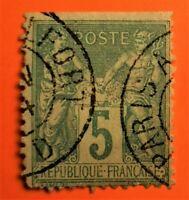 MARCOPHILES !!SAGE N°75 - 2c  - (TB-1218-1)CAD Ambul Paris-Belfort de nuit -TB